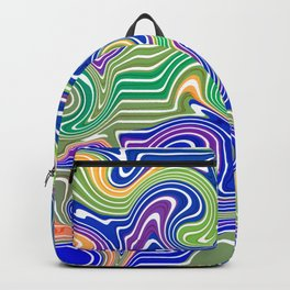 Swirls in blue and green Backpack