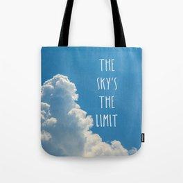 Sky's the limit - cloudscape Tote Bag