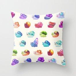 Jewel Snail - pastel Throw Pillow