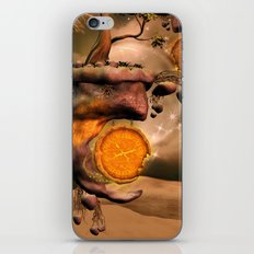 Fantasy world with flying rocks with clocks iPhone & iPod Skin