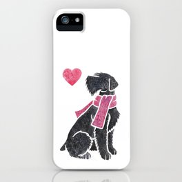 Watercolour Giant Schnauzer iPhone Case
