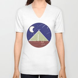 Camping Under the Stars / Nature Camping Trip Unisex V-Neck