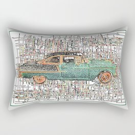 The Service Man's Car Rectangular Pillow