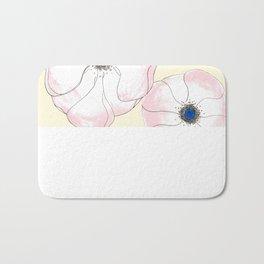 Anemone Admiration // Floral Print Bath Mat