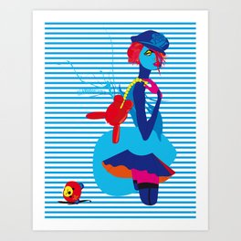 The Blue Girl Art Print