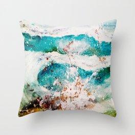 Abstract Waves Splatter Throw Pillow