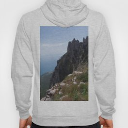 Sunny Aj-Petri Mountain top view , Crimea, summer Hoody