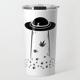 Ufo Alien 420 | Smoke Weed Cannabis Gifts Travel Mug