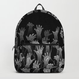 Halloween Horror Zombie Hand Pattern Backpack