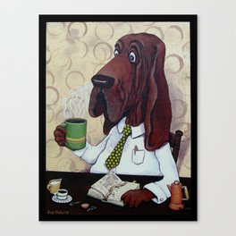 Coffee Hound Canvas Print