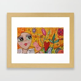 Her Happy Place Framed Art Print