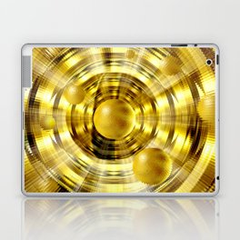 Abstract fantasy painting in gold. Laptop & iPad Skin