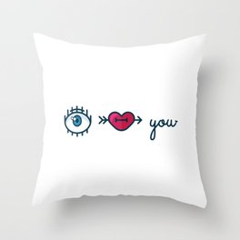 Eye Heart You Throw Pillow