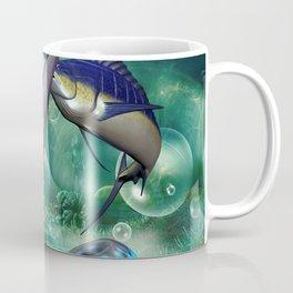Awesome marlin with jellyfish Coffee Mug