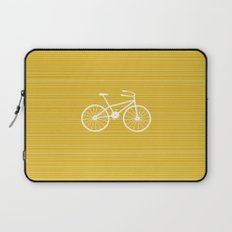 Yellow Bike by Friztin Laptop Sleeve