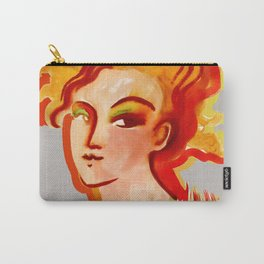 Deep orange yellow hues fashion portrait Carry-All Pouch