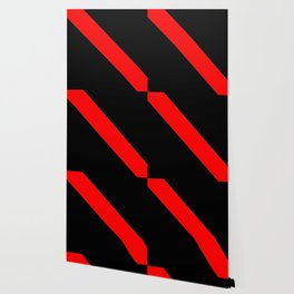 Oblique red and black Wallpaper