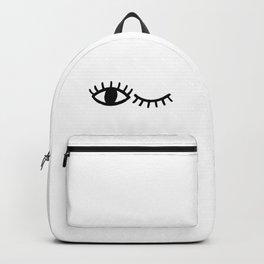 Eyes with Eyelashes Winking Backpack