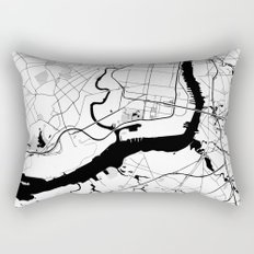 Philadelphia Minimal Map Rectangular Pillow