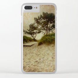 Trees by the Sea Clear iPhone Case
