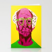 larry david Stationery Cards featuring Larry David 3 by Alyssa Underwood Contemporary Art