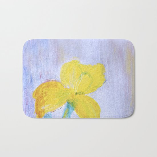 yellow summer iris 2 Bath Mat