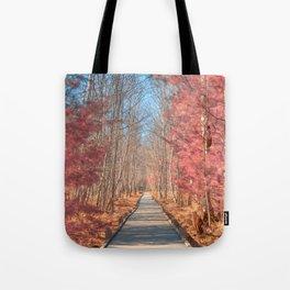 Jesup Boardwalk Trail - Tickle Me Pink Tote Bag