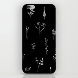 Black wildflowes Big iPhone Skin