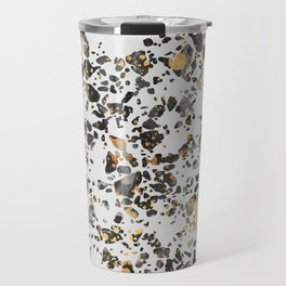 Gold Speckled Terrazzo Travel Mug