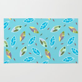 Abstract feathers seamless pattern, textile, surface pattern Rug