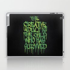 Graffiti Tag Typography! The Creative Adult is the Child Who Has Survived  Laptop & iPad Skin