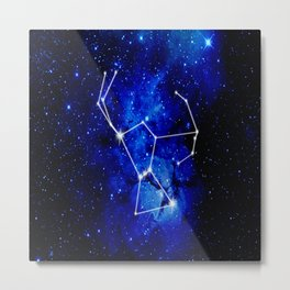 Orion Constellation Star Map Metal Print