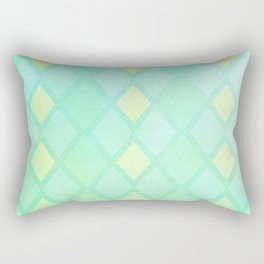 Checkered Mint Rectangular Pillow