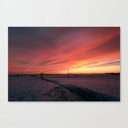 Winterfire Sky Canvas Print