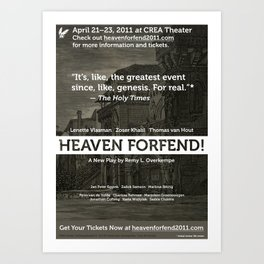 """Heaven forfend!"" Official Poster Art Print"