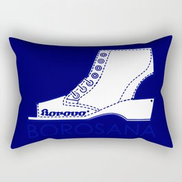 Borosana Borovo -  white nostalgic ortopedic shoe from Yugoslavia Rectangular Pillow