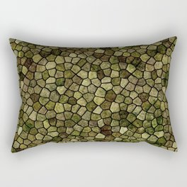 Faux Toad Skin Abstract Pattern Rectangular Pillow