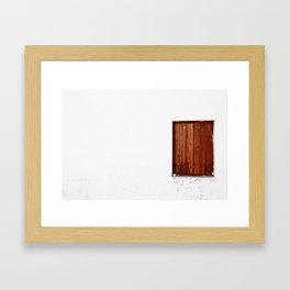 Cyprus Window Framed Art Print
