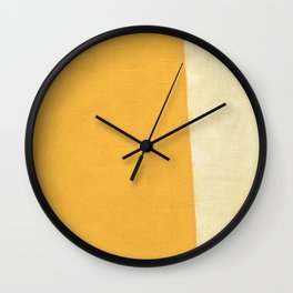 Yellow White Wall Clock