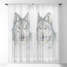 Wolf Sheer Curtain