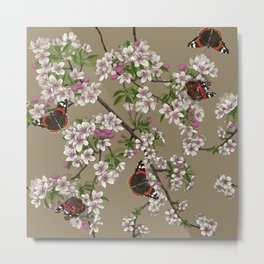 Blossoms and Butterflies Metal Print