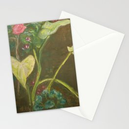Lilly and Camelia pastel painting Stationery Cards