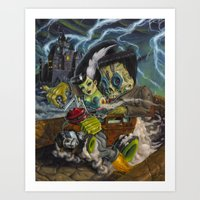 Monster ride. Art Print