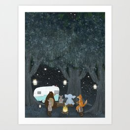 camping time Art Print