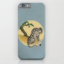 Tiger with magpie type-F : Minhwa-Korean traditional/folk art iPhone Case