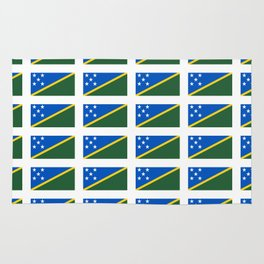 flag of Salomon -Salomon,salomon islander,santa isabel,nggela,malaita,honiara,guadalcanal Rug
