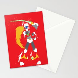 Zero (Mega Man X) Splattery Design Stationery Cards
