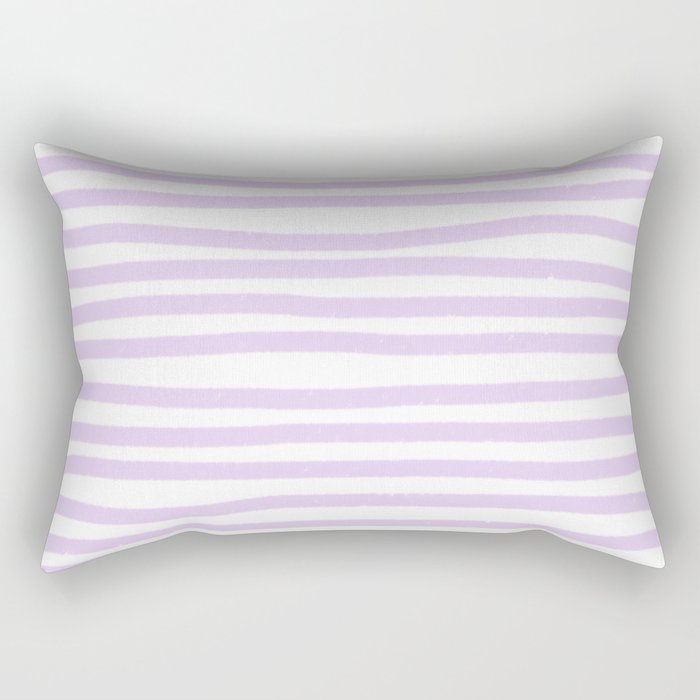 Lilac Stripes Horizontal Rectangular Pillow