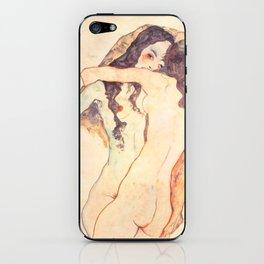 """Egon Schiele """"Two women embracing"""" iPhone Skin"""