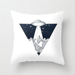 UFO INVASION Throw Pillow